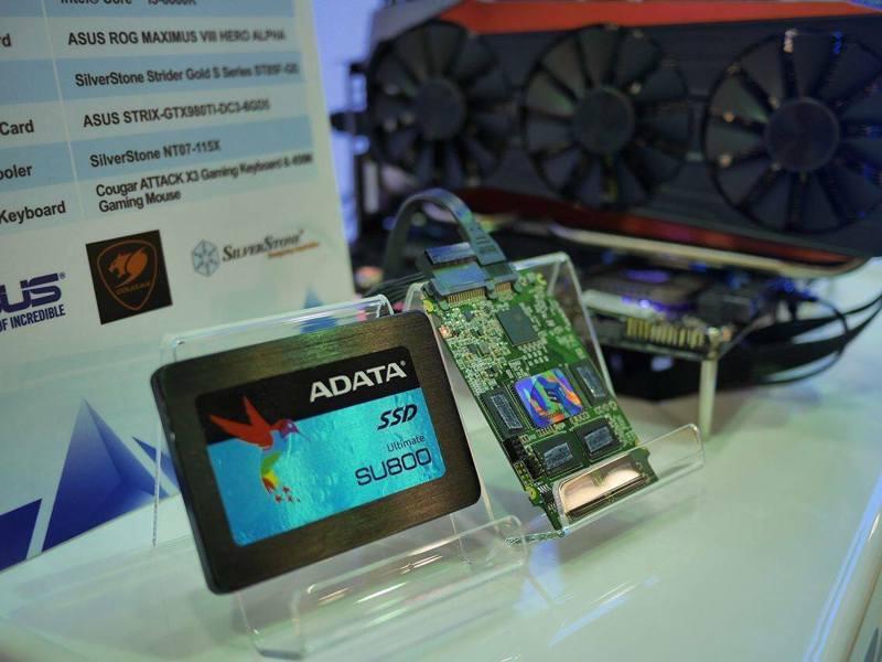 威剛(3260)高容量固態硬碟(SSD)接單爆增。圖/取自ADATA臉書