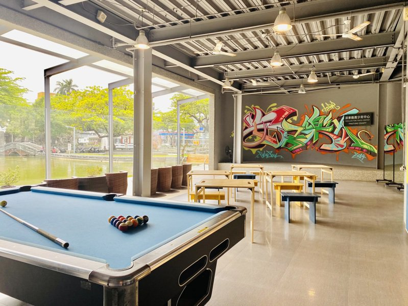 屏東縣青少年中心開館邁入第7年,青少年中心小聚場每到假日成為學生們討論聚會的空間,小聚場改造,安排工作坊邀請青少年參與,讓小聚場空間再升級。圖/屏東縣社會處提供