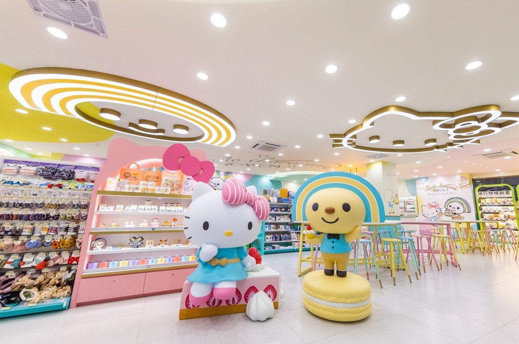 位於台南永康的「OPEN! X Sanrio三麗鷗聯名主題店」,結合OPEN!家...
