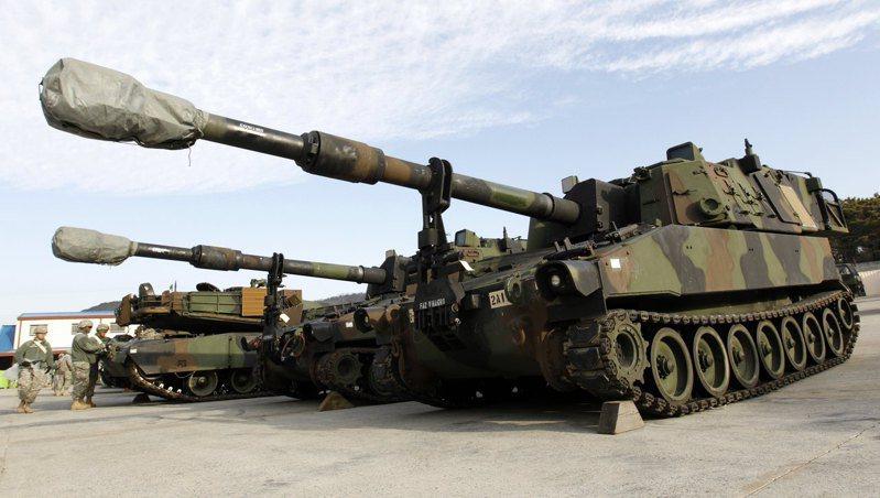 美軍M109A6 Paladin自走砲。路透