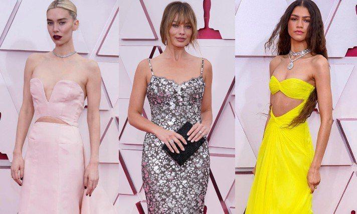 今年出席奧斯卡的女星偏愛露腰裝。圖/美聯社、摘自IG