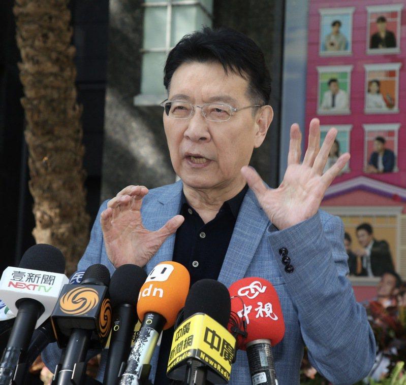 中廣董事長趙少康批評駐日代表謝長廷不該拿台灣核二廠的正常排水和福島的核廢水相比。要求蔡英文出來說明謝長廷的言行是否妥當。記者黃義書/攝影