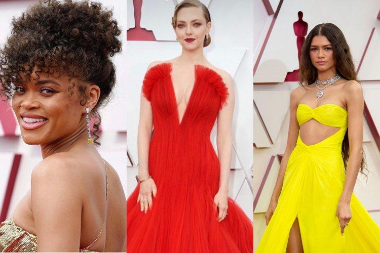 眾多女星選擇黃鑽珠寶為今年典禮造型畫龍點睛。圖/取自IG、品牌提供