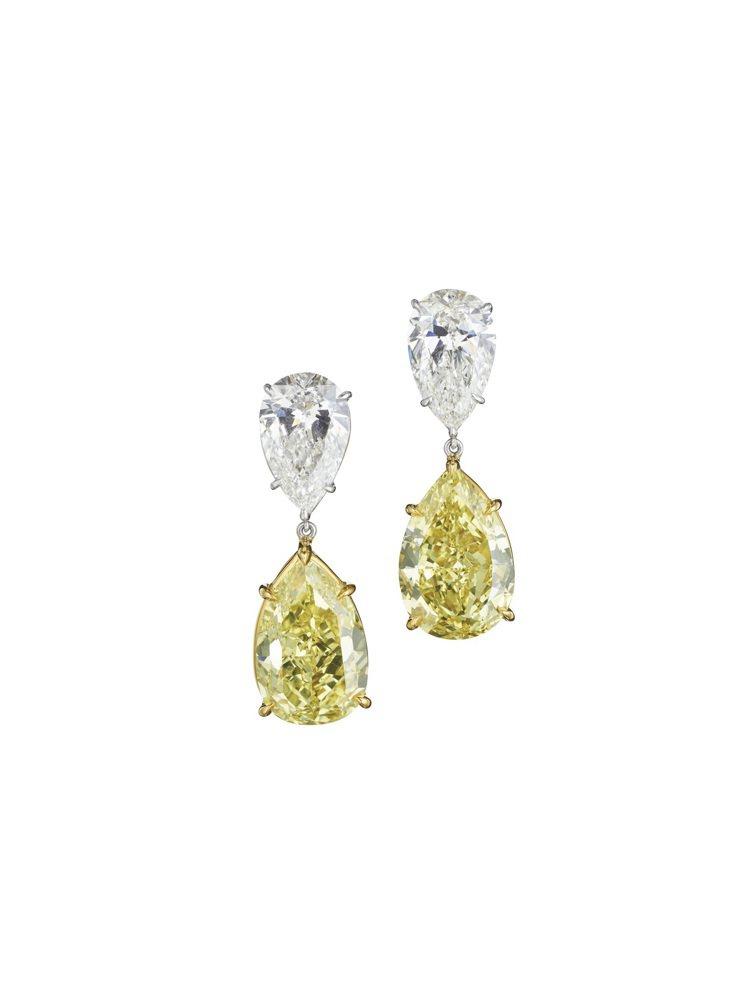 Zendaya配戴的BVLGARI頂級黃鑽與鑽石耳環,價格店洽。圖/寶格麗提供