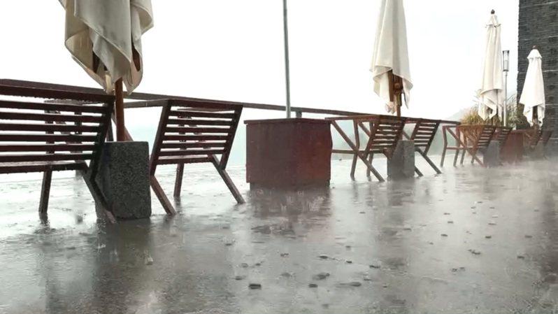 水利署指出,午後雷陣雨昨天下在水庫集水區內,到下午四時左右,日月潭與霧社水庫進補最多。圖/讀者提供