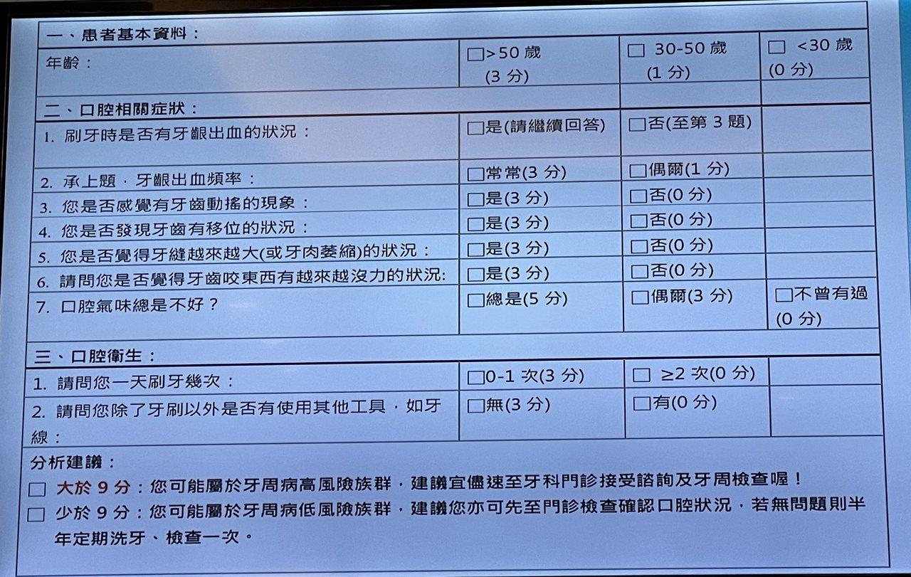 嘉義基督教醫院透過問卷調查,從糖尿病患中篩選是否有牙周疾病。 圖/林伯驊 攝影