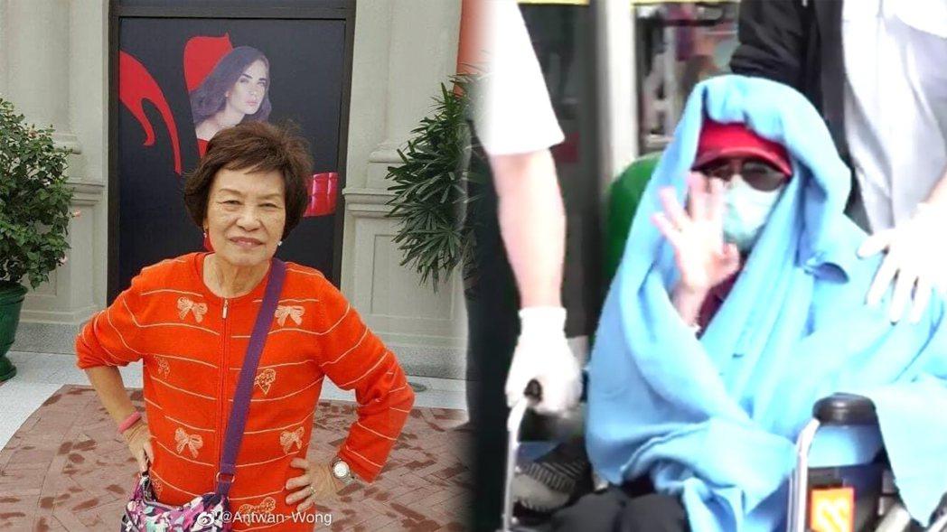 余慕蓮去年因肺纖維化住進加護病房,26日順利出院。圖/摘自微博