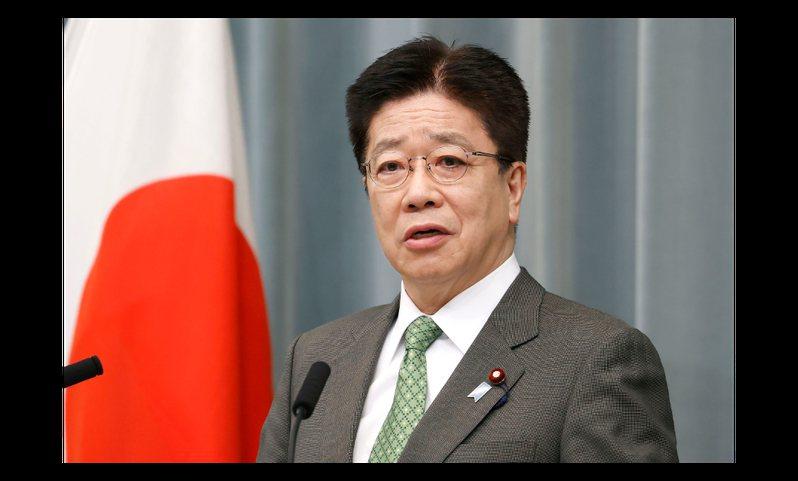 日本內閣官房長官加藤勝信。美聯社