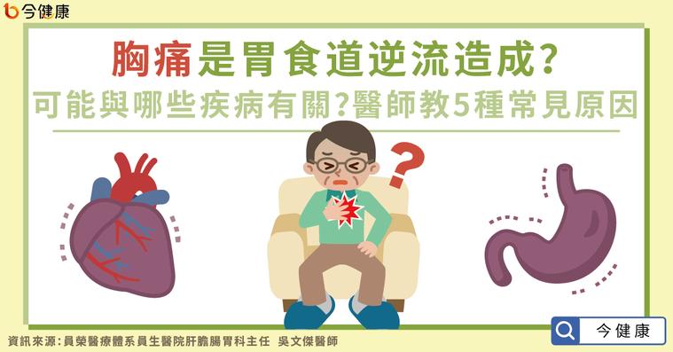 胸痛是胃食道逆流造成?可能與哪些疾病有關?醫師教5種常見原因