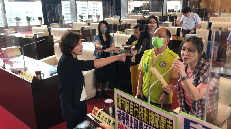 台中市議員黃馨慧要求道歉。 記者陳秋雲/攝影