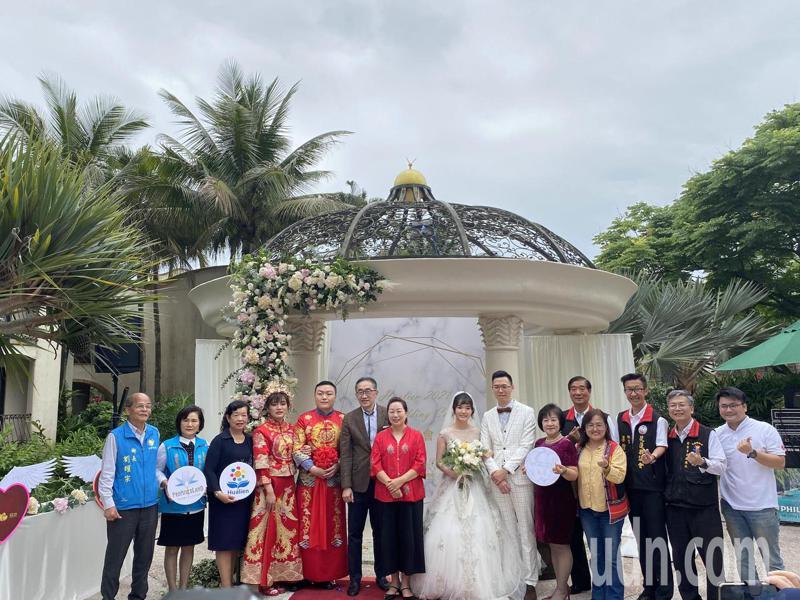 花蓮春季集團結婚訂於5月16日、5月17日在理想大地飯店舉行。記者王思慧/攝影