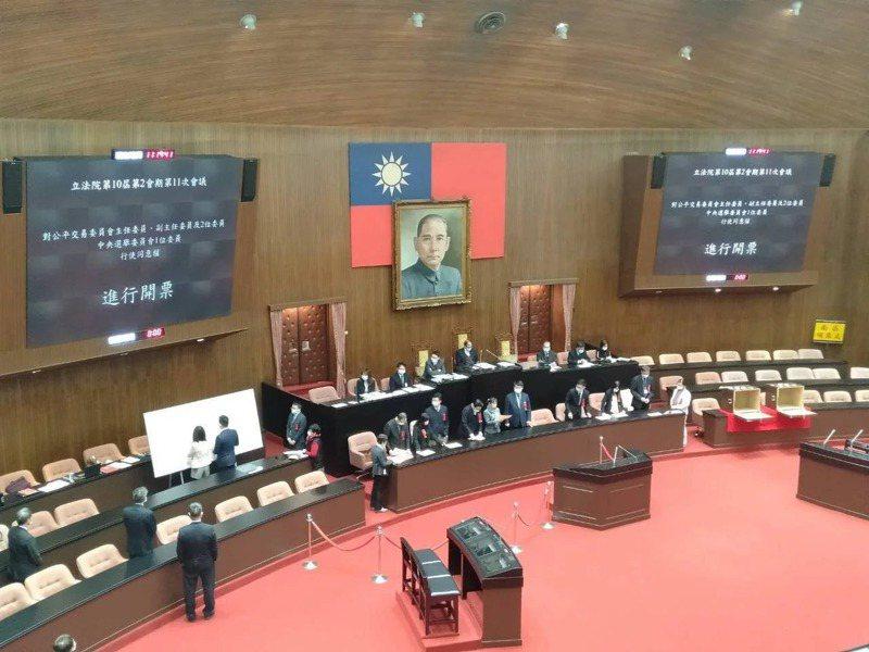 立法院院會示意。記者陳熙文/攝影