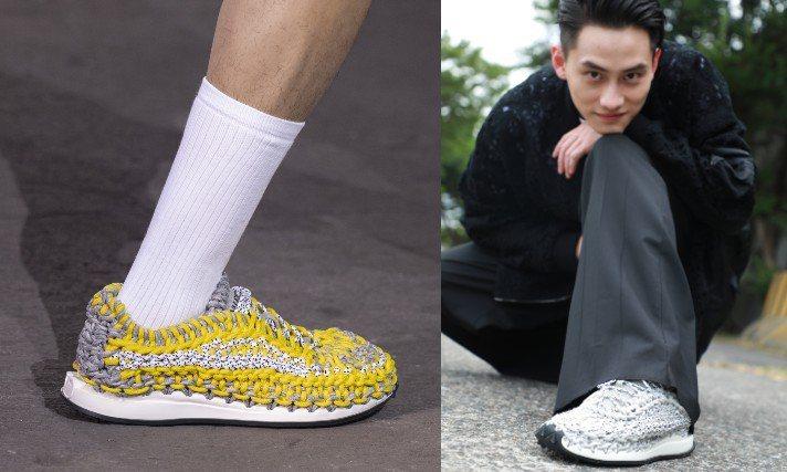 Valentino春夏系列嶄新推出Crochet鉤織男裝運動鞋。圖/Valentino提供