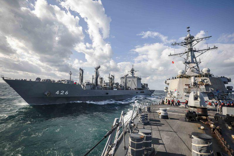 東京大學教授松田康博指出,日本堅持戰略模糊,只是在美國要求下,檢討有沒有疏漏補強之處。圖為美日聯合軍演。圖/擷取自U.S. Pacific Fleet