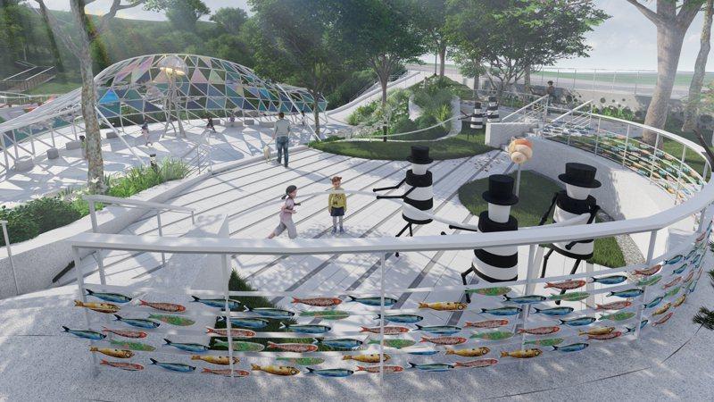 結合地方牽罟特色,石門將闢新北首座地景式藝術公園。圖/新北市政府提供