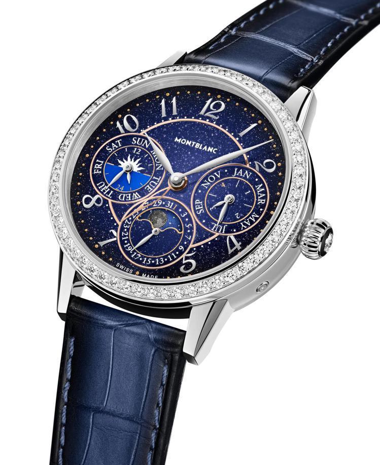 萬寶龍Bohème寶曦系列萬年曆腕表限量款88,價格店洽。圖 / 萬寶龍提供。