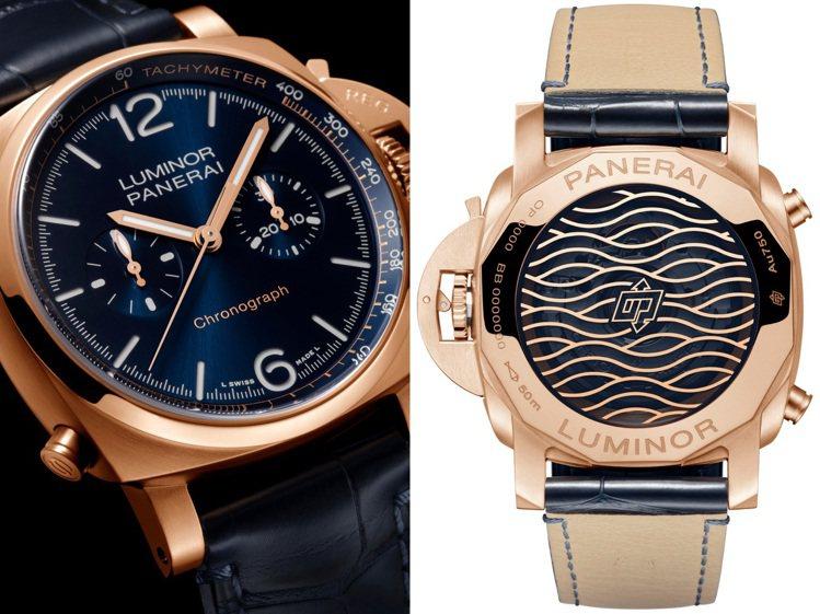 沛納海Luminor Goldtech 44毫米計時腕表使用的Goldtech紅...