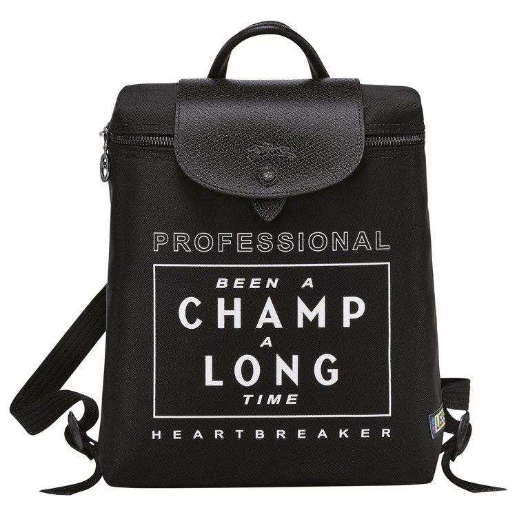 LONGCHAMP x EU聯名Le Pliage Cuir尼龍後背包,7,20...