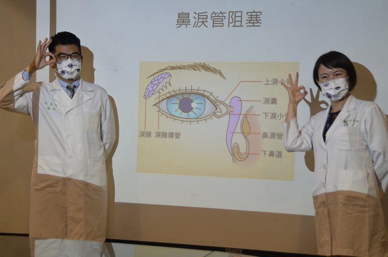 台大醫院雲林分院引進新式內視鏡淚囊鼻腔吻合術,成功率達9成,手術於門診即可進行,無皮膚傷口且恢復快,不影響外觀。記者陳苡葳/攝影
