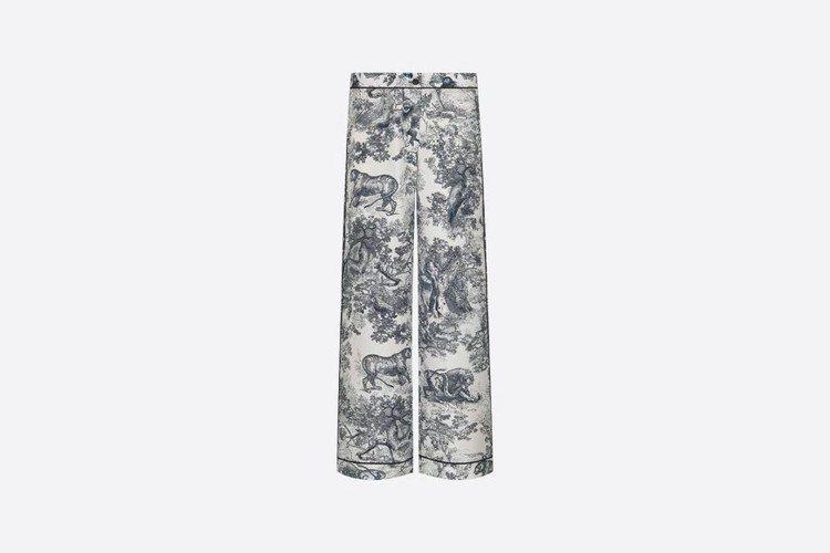 DIOR Chez Moi真絲斜紋布長褲,54,000元。圖/取自DIOR官網