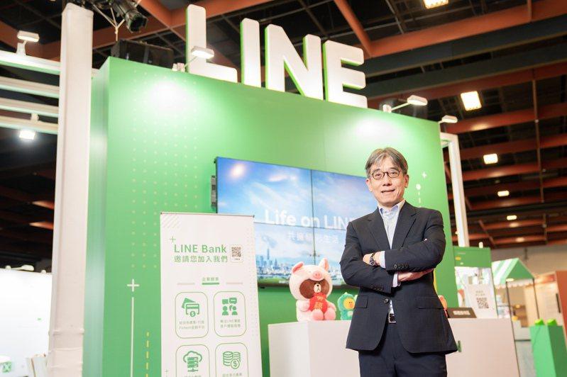 LINE Bank在4月22日開業,圖為LINE Bank總經理黃以孟。 圖/LINE Bank提供