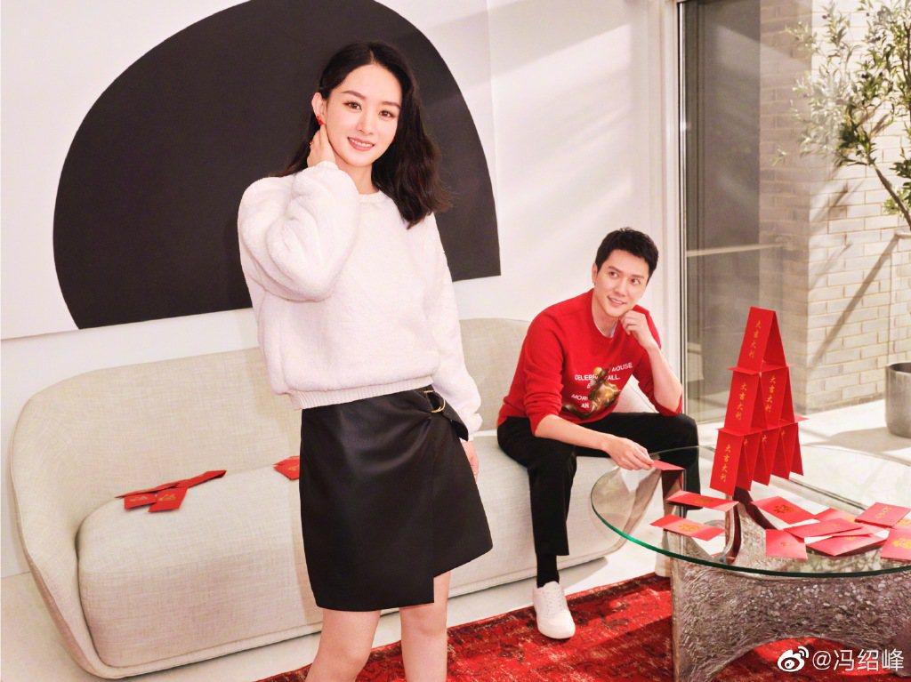 趙麗穎(左)、馮紹峰(右)雖稱和平分手,卻頻爆負面傳聞。圖/摘自微博