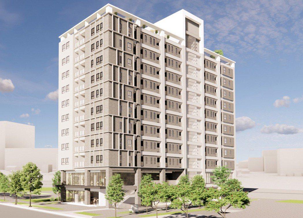 板橋江翠段完工將是地下3層地上11層青年社宅。圖/新北市城鄉局提供