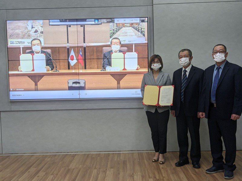 屏東縣議會與日本鹿兒島縣議會簽署合作備忘錄。記者陳弘逸/攝影