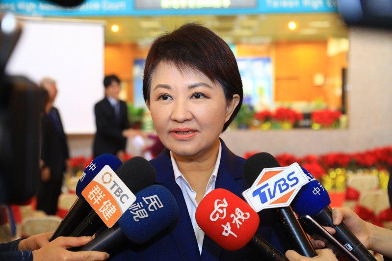 盧秀燕常避談政黨與政治的話題,不過談到空品、大旱缺水,她甚至砲打中央。圖/台中市新聞局提供