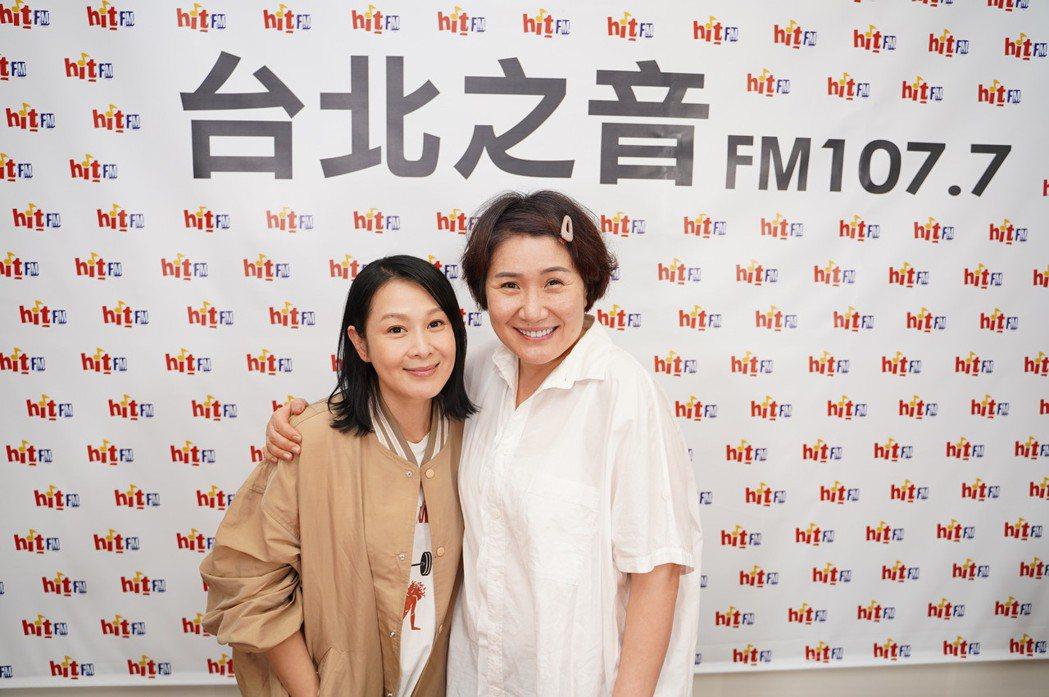 徐譽庭(右)爆料「我可能不會愛你」女主角原本是為劉若英打造的。圖/Hit Fm聯...