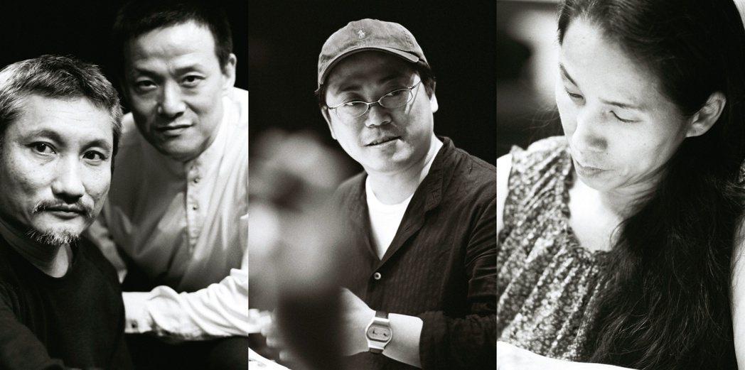總導演徐克(左起)、執行導演吳興國、美術設計葉錦添、編舞林秀偉共同打造舞台劇「暴...