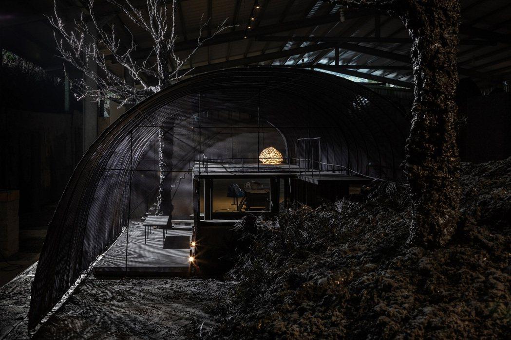第17屆威尼斯建築雙年展台灣館「少少—原始感覺研究室」展出模型。圖/自然洋行提供