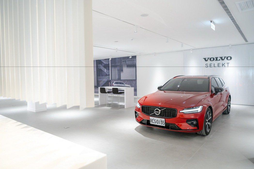 展示中心二樓為佔地近 200 坪的頂級北歐奢華客休區與「Volvo Selekt...