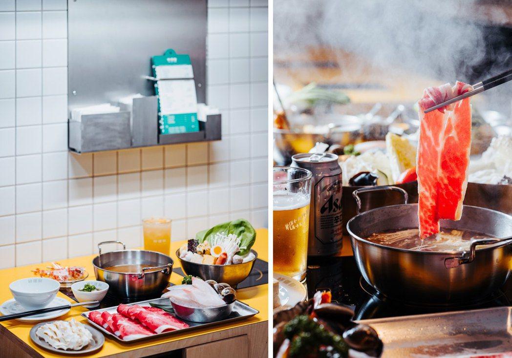 觀察到「每一種都想吃」的需求,主餐皆可自選雙拼,菜和火鍋料也可以調整比例。 圖/...