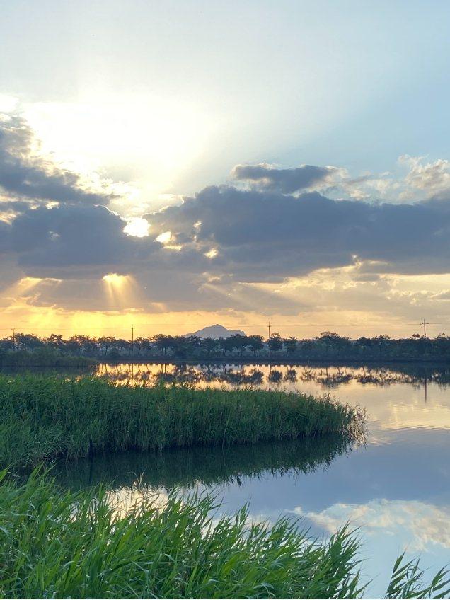宜蘭下埔地區40甲休閒區的環境相當優美,被譽為宜蘭限定版的雲山水。圖/鎮公所提供