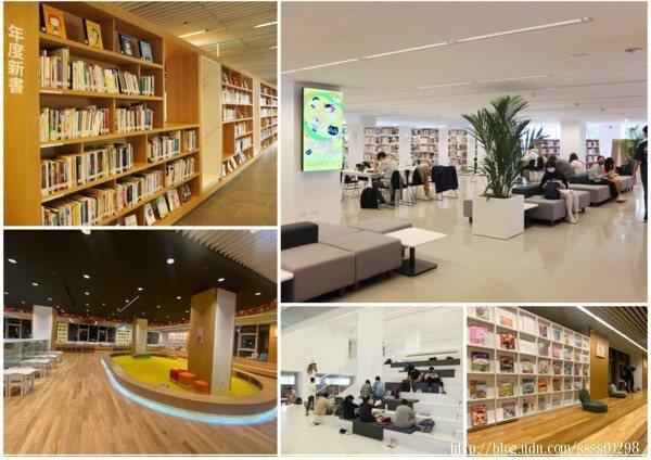 閱讀空間以純白色調為主,加入木作裝潢與植物盆栽點綴更顯溫度自在,設計俐落不複雜,很適合閱讀或自修。