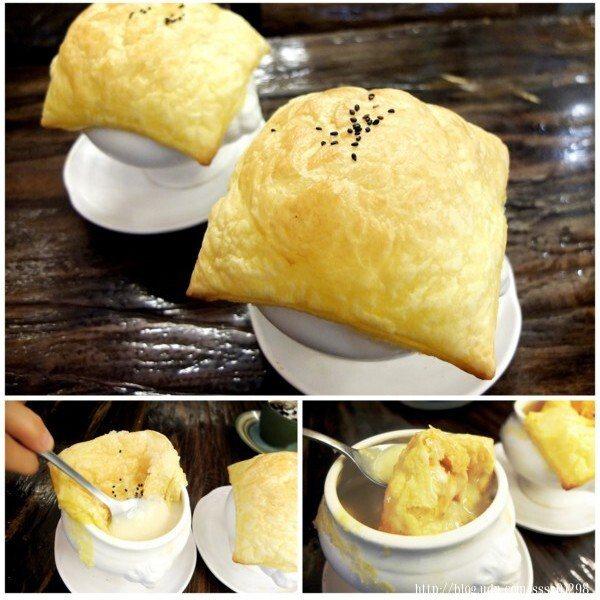 「碧蓮餐館」的必點招牌-酥皮濃湯,單點一盅75元,吃過絕對不會失望!