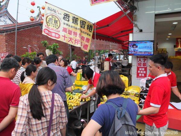 在旗山老街可以買到各式各樣結合在地農特產香蕉的美食伴手禮。