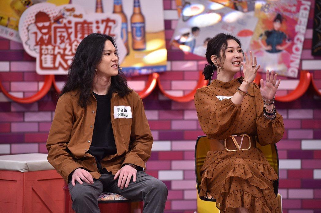 Albee及男友Falo上TVBS「11點熱吵店」。圖/TVBS提供