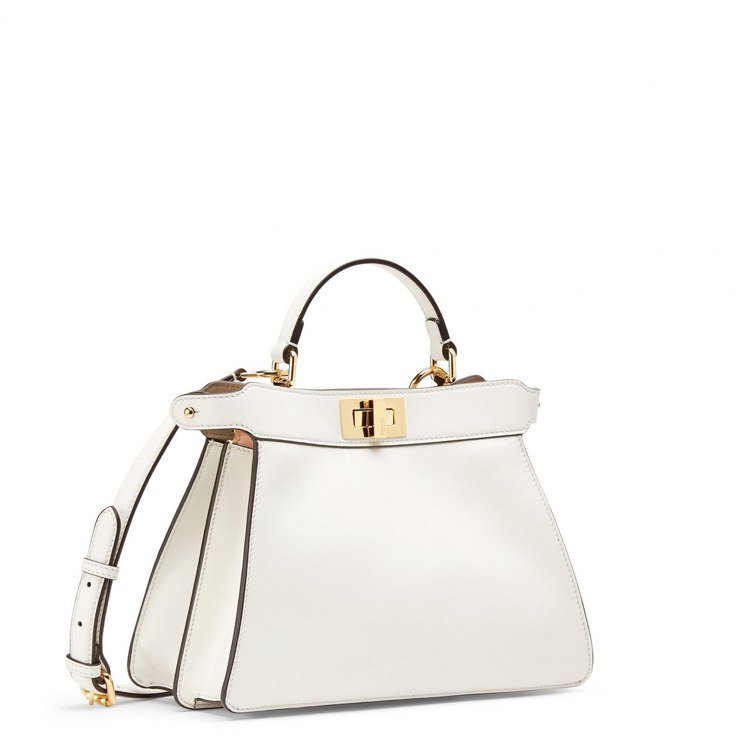 FENDI白色Peekaboo ISseeU Small手袋,13萬5,000元...