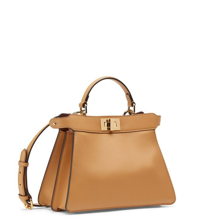 FENDI棕色Peekaboo ISseeU Small手袋,13萬5,000元...