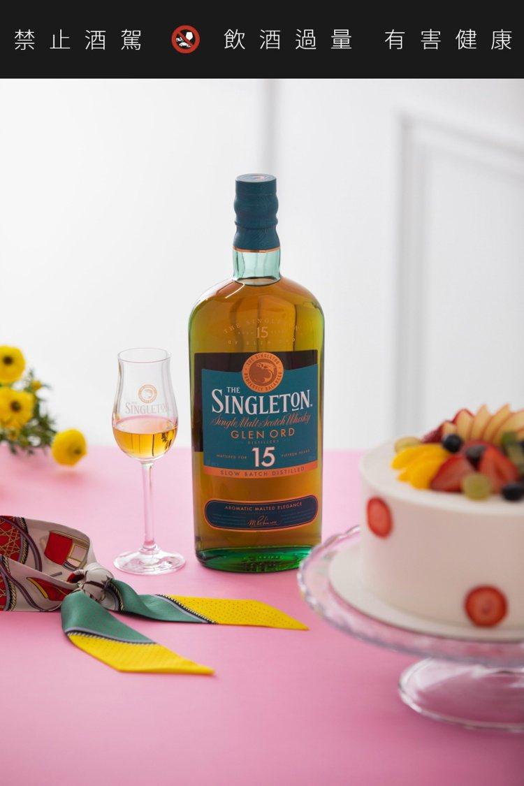 蘇格登15年搭配柳橙生鮮奶油布蕾塔。圖/帝亞吉歐提供。提醒您:禁止酒駕 飲酒過量...