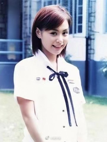 阿嬌20歲時的舊照。 圖/擷自阿嬌微博