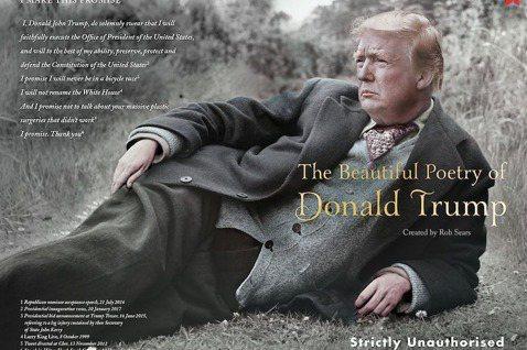 圖為2017年出版《川普的美麗詩篇》(The Beautiful Poetry ...