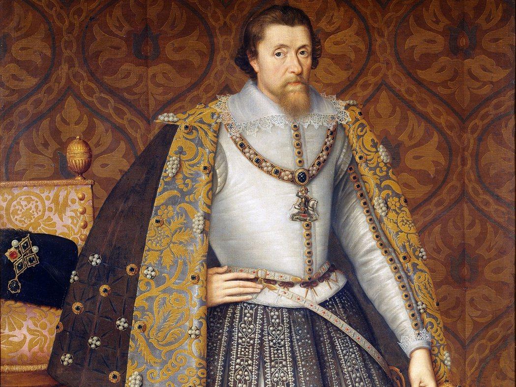 南下成為英格蘭國王詹姆斯一世的蘇格蘭國王詹姆斯六世。 圖/維基共享