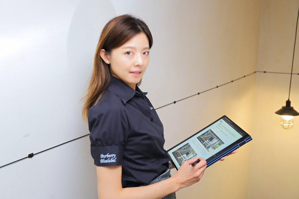 配合HP可充電主動式手寫筆G3,可隨時揮灑創意。彭子豪/攝影