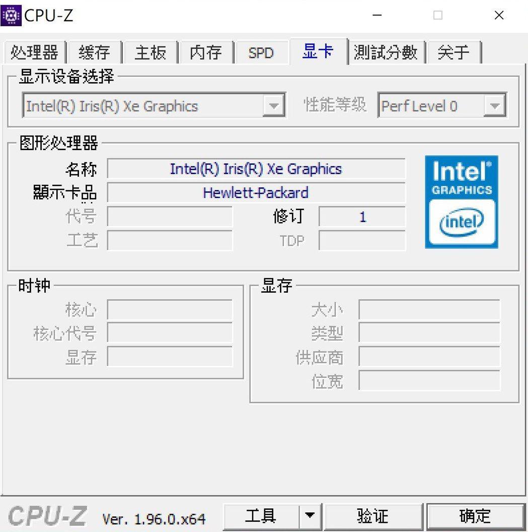 顯示晶片為Intel Iris Xe。 彭子豪/攝影