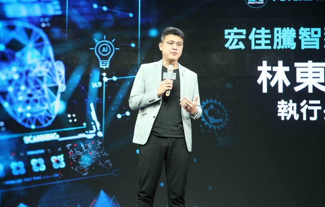 宏佳騰智慧電車執行長林東閔介紹「CROXERA 次世代開發計畫」,促使科技應用結...