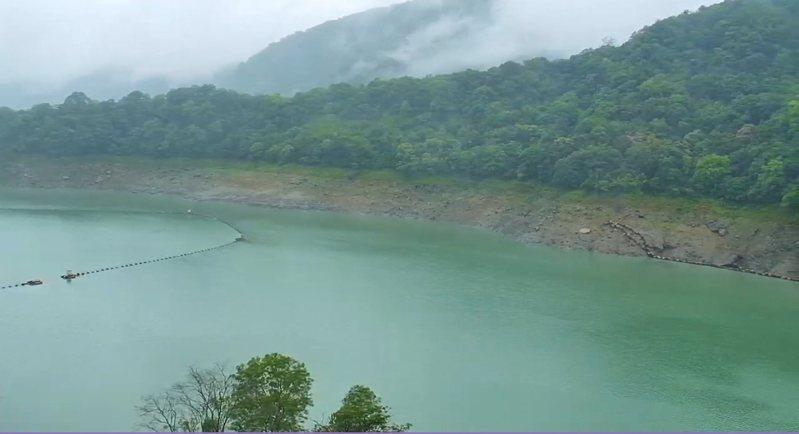 石門水庫約進帳480萬噸水,約桃園市四天用水。圖/桃園市觀旅局即時影像