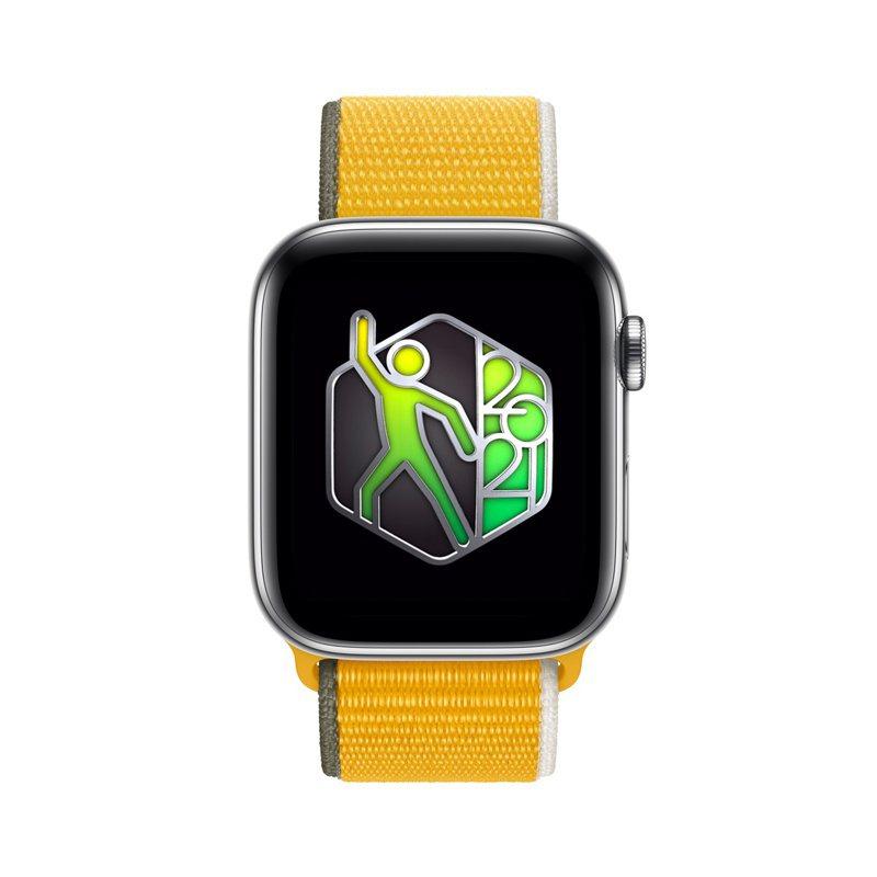 Apple Watch用戶今天只要記錄20分鐘以上的舞蹈訓練就能獲得限量版的「世界舞蹈日」獎章。圖/蘋果提供
